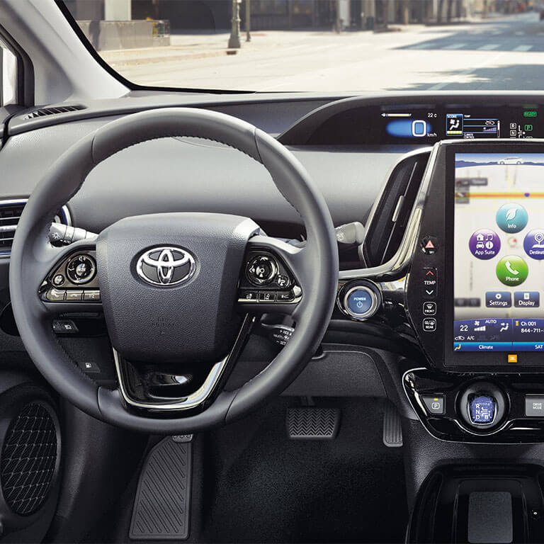 Photo showing interior of the 2019 Toyota Prius at Heninger Toyota